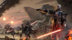 Lightsaber Man Red Lightsaber Sith Star Wars Star Wars 2560x1600 wallpaper