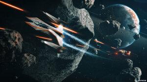Taenaron 3D Space Battle Planet 3840x2160 Wallpaper