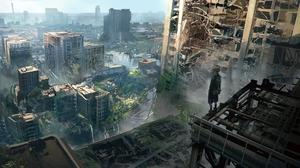 Boy Building City Destruction Post Apocalyptic Yorha No 9 Type S 1920x1080 Wallpaper