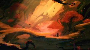 Dragon Landscape Tree 2560x1440 Wallpaper