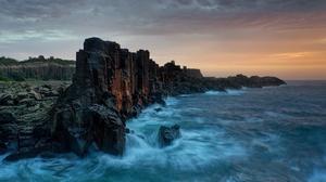 Nature Coast Sea Rock 2300x1341 Wallpaper