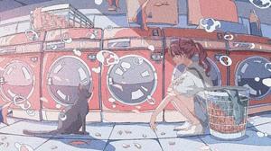 Cat Fish 5196x2398 Wallpaper
