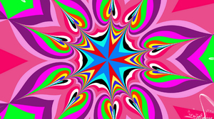 Abstract Artistic Colorful Colors Digital Art Kaleidoscope Pattern 1920x1080 Wallpaper