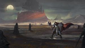 Warrior Armor Castle Shield Axe 6521x3052 Wallpaper
