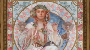 Traditional Artwork Alphonse Mucha Artwork Art Nouveau Fantasy Art Women Fantasy Girl 1920x1080 wallpaper