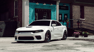 Dodge Hellcat Car Vehicle Muscle Cars White Cars 3840x2160 Wallpaper