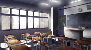 Bag Chair Chalk Classroom Table 1920x1080 Wallpaper