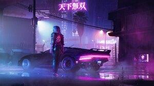 Cyberpunk Cyberpunk 2077 Video Game Art Video Games Digital Art City Night Lights Road Highway Skysc 2048x1085 Wallpaper