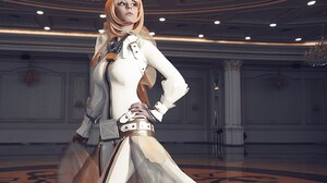 Suits Boots Cosplay Saber Bride Long Hair Blonde Blue Eyes Leather Boots Leather Clothing Ballroom H 3023x4533 wallpaper