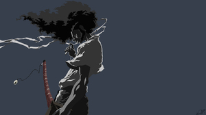 Afro Samurai Anime Black Hair Katana Sword Weapon 1920x1080 wallpaper