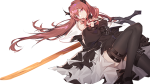Anime Anime Girls Digital Art Artwork 2D Portrait Arknights Surtr Arknights NewFlame Horns Redhead L 1500x1080 Wallpaper