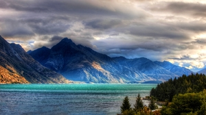 Lake Forest Mountain Lake Wanaka Queenstown New Zealand New Zealand Southern Alps 1600x900 wallpaper
