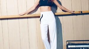 Miranda Kerr Model Redhead Long Hair Sweatpants Dancer Women 1200x1800 Wallpaper