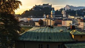 Austria City Fortress Hohensalzburg Castle 2200x1467 Wallpaper