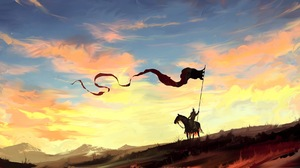 Banner Horse Knight Sky 1920x996 Wallpaper