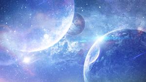 Light Effects Blue Universe 3500x2000 Wallpaper