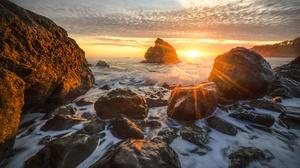 Sea Sunbeam Wave 3840x2604 Wallpaper