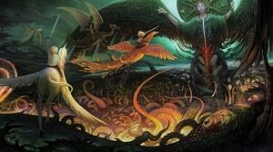 Angel Artistic Child Dragon Fantasy Phoenix Unicorn 1920x1200 Wallpaper