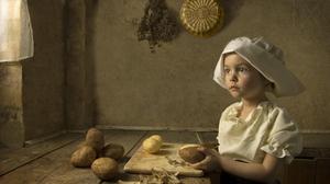 Artistic Cute Girl Little Girl Painting 2000x1325 Wallpaper