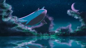 Boat Cloud Lake Moon Night Stars 3840x2160 Wallpaper