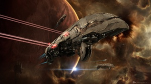 Eve Online Nebula Planet Space Spaceship 2560x1440 Wallpaper