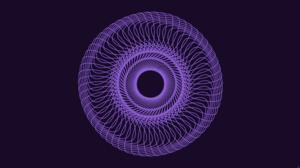Digital Art Lines Purple Spiral 8500x4500 Wallpaper