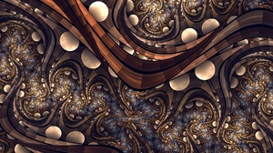 Abstract Artistic Brown Digital Art Fractal 1920x1416 Wallpaper