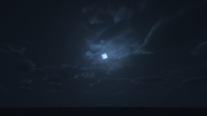 Minecraft Night Stars Moon Video Games PC Gaming Master Race Clouds 1920x1080 Wallpaper