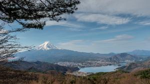 Japan Lake Kawaguchi Mount Fuji Spring Yamanashi 4584x3051 Wallpaper