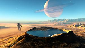 Sci Fi Astronaut 3800x2200 wallpaper