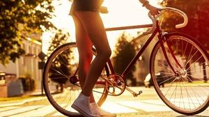 Alex Siracusano Model Women Legs Shorts Sneakers Bycicle Street Urban Depth Of Field Portrait 2000x1248 wallpaper