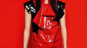 Kendall Jenner Women Model Red Background Long Hair Dark Hair 1650x1899 Wallpaper