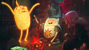Adventure Time Cartoon Network Dark Souls Jake Finn The Human Princess Bubblegum 3840x2160 Wallpaper