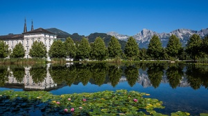 Abbey Alps Austria Monastery Mountain Reflection River 1920x1092 Wallpaper
