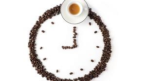 Clock Coffee Coffee Beans Cup 2560x1707 Wallpaper