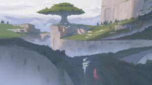 Jef Wu Digital Art Concept Art Illustration Fantasy Art 2D ArtStation 3840x2114 Wallpaper