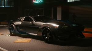 Cyberpunk 2077 Car Vehicle Black Cars Video Games PC Gaming Screen Shot Futuristic 3840x2160 Wallpaper