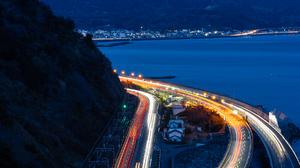Time Lapse Highway Mount Fuji Japan 1813x2784 Wallpaper