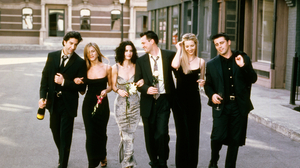 Chandler Bing Courteney Cox David Schwimmer Friends Tv Show Jennifer Aniston Joey Tribbiani Lisa Kud 2000x1644 Wallpaper