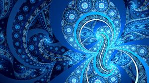 Artistic Blue Digital Art Fractal 2560x1440 Wallpaper