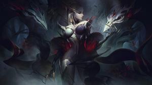 Coven Evelynn Evelynn League Of Legends Forest League Of Legends Riot Games Shadow Dark Demon Digita 7680x4320 Wallpaper