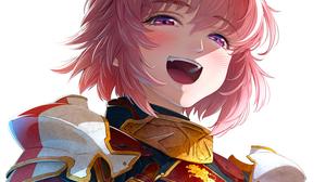 Fate Apocrypha FGO Fate Series Open Mouth Blushing Bangs Femboy Violet Eyes Alternate Hairstyle Armo 1500x1423 Wallpaper