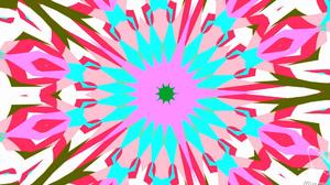 Artistic Colors Digital Art Kaleidoscope Pattern Pink White 1920x1080 Wallpaper