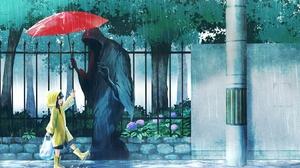 Rain Death Raincoat Umbrella 1920x1080 Wallpaper