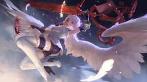 Anime Sword Girls With Swords Anime Girls Weapon Fantasy Art Women Fantasy Girl Red Eyes Legs Heels  1920x1193 Wallpaper