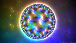 Abstract Colorful Circle Fractal Hologram 1920x1080 Wallpaper