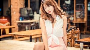 Asian Girl Model Redhead Woman 2048x1365 wallpaper