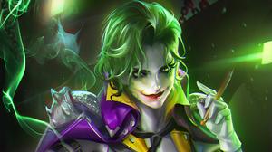Dc Comics Genderbend Girl Green Eyes Green Hair Joker Lipstick 2628x1478 Wallpaper