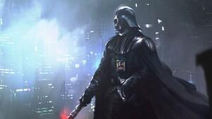 Sith Cape Helmet Lightsaber Villains Artwork Science Fiction Star Wars Villains 1920x1080 Wallpaper