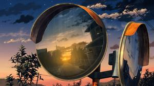 Sunset Starry Sky Mirror 1920x1080 Wallpaper